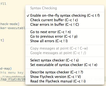Quickstart — Flycheck 32-cvs documentation